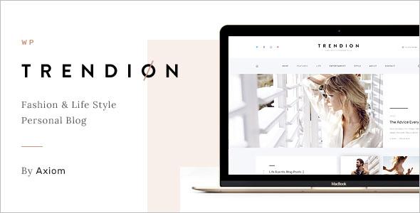 Personal Lifestyle Blog Theme