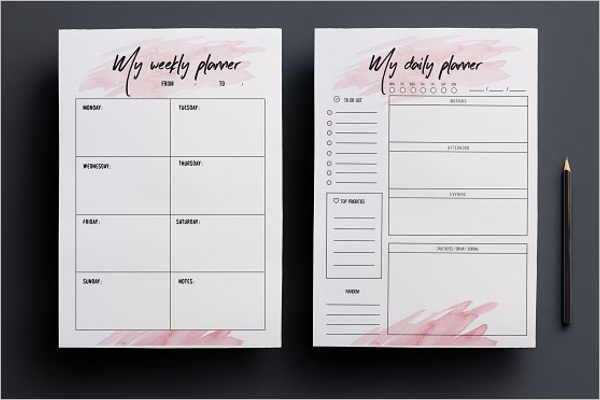 Personalized Agenda Planner Template