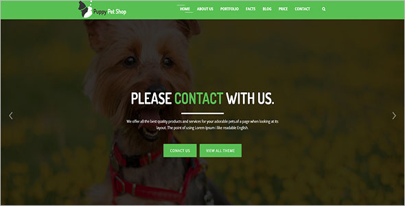 Pet Care Bootstrap Template