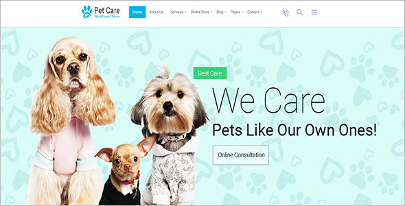 Pet Clinic Bootstrap Template