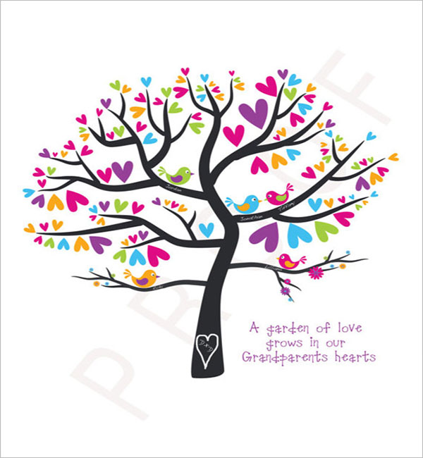 Photo Family Tree Gift Template