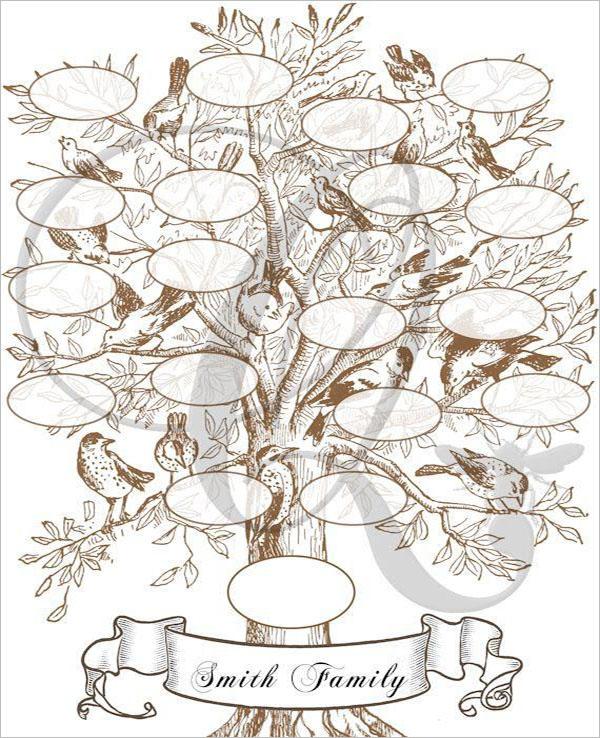 Photo Family Tree Print Template