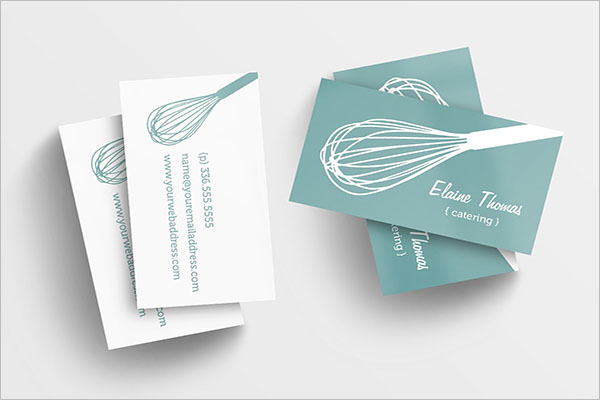 Photorealistic Catering Services Business Card Design