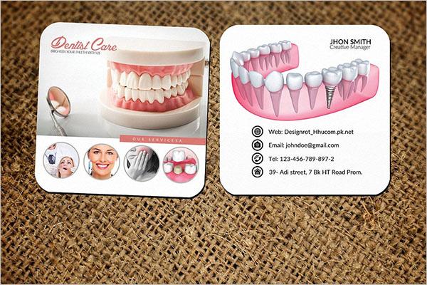 Photorealistic Dental Care Business Card Template