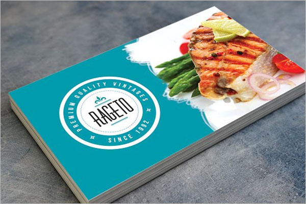 Photoshop Catering Service Business Card