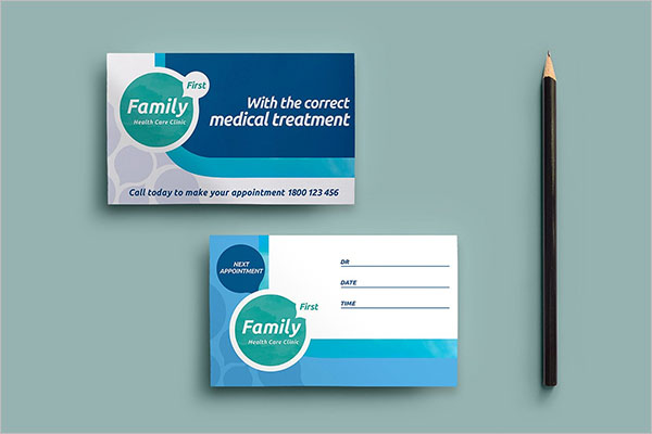 Photoshop Dental Care Business Card Template
