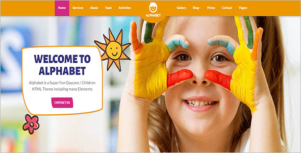 Play school Responsive Website Template