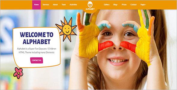 Play school Responsive Website Template