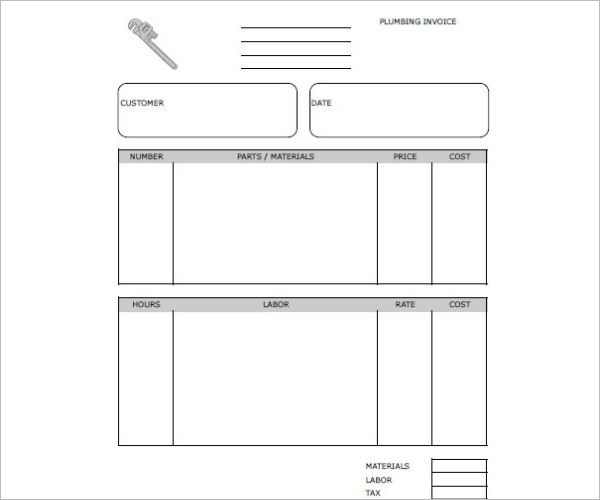 Plumbing Repair Receipt Template