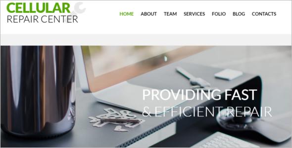Popular Computer Repair Website Template