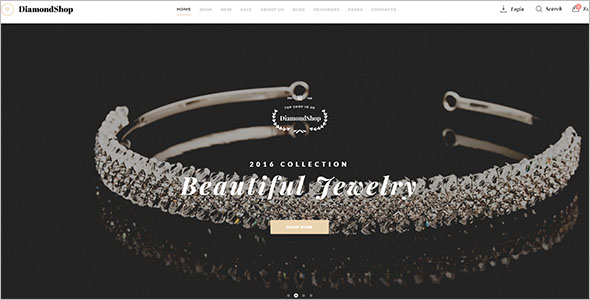 Popular Jewelry Bootstrap Template