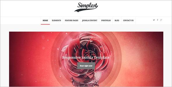 Portfolio Joomla Website Template