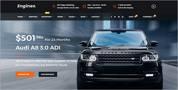 Premium Motorcycle Website Template
