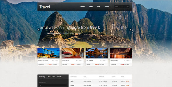 Premium Travel HTML Template
