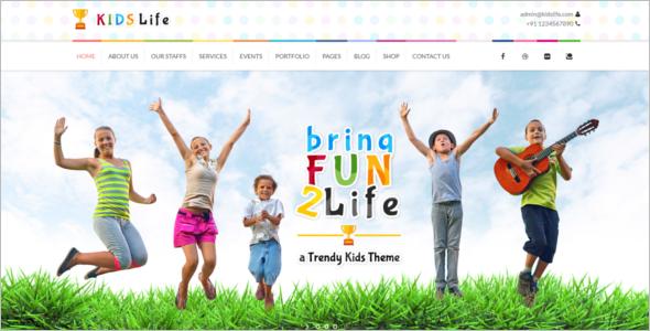 Preschool Website Template