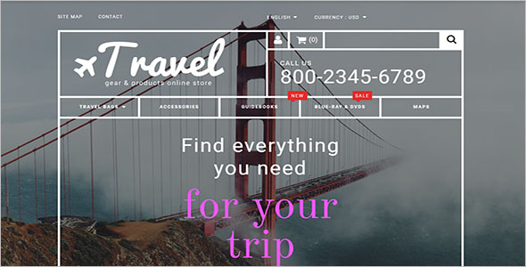Prestashop Travel Booking Theme