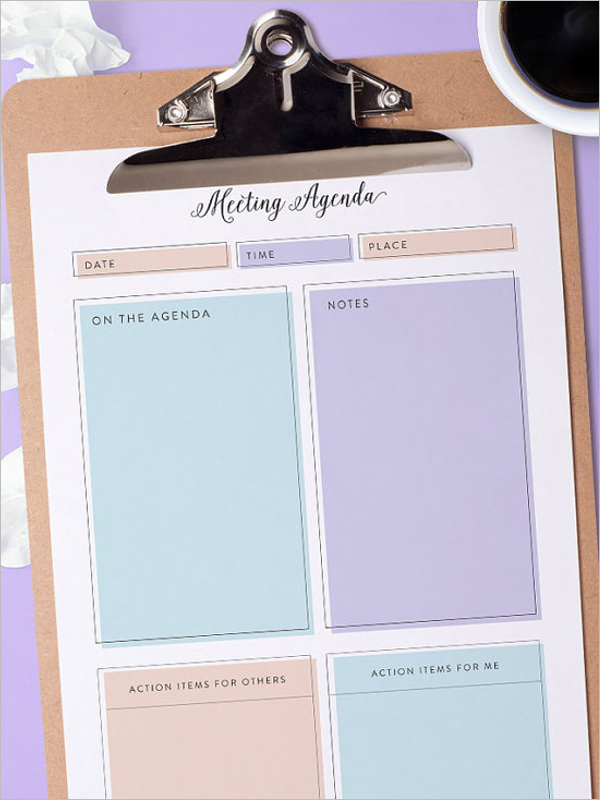 Printable Agenda Party Template