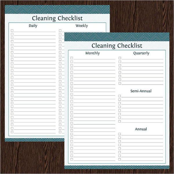 Printable Cleaning Checklist Template