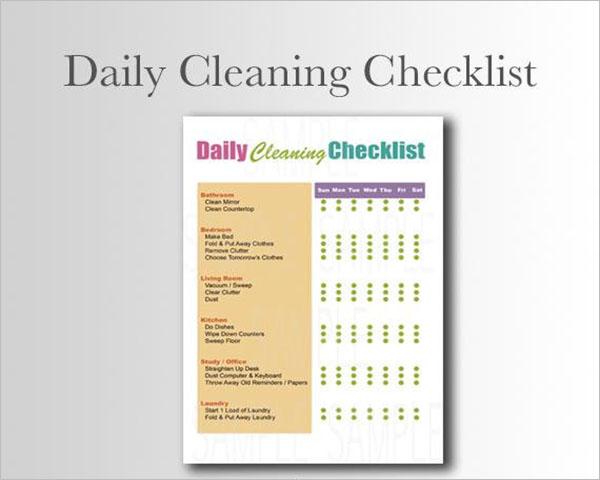 Printable Daily Checklist Template
