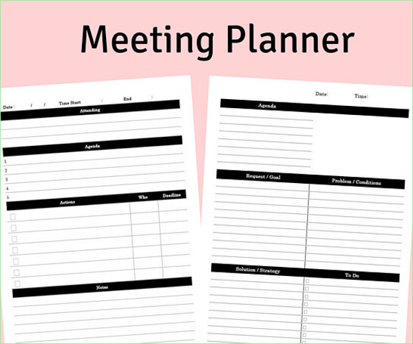 Printable Team Meeting Minutes Template