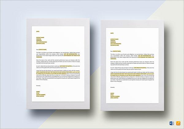 Printable Warning Letter Template