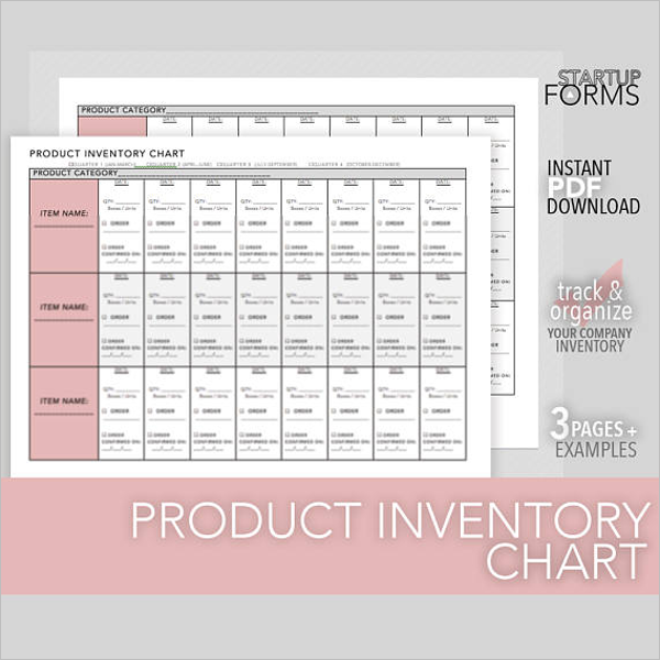 Product Inventory Chart Template