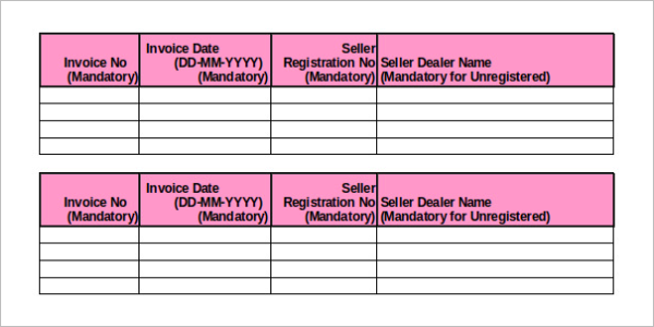 Product Inventory Sheet Template