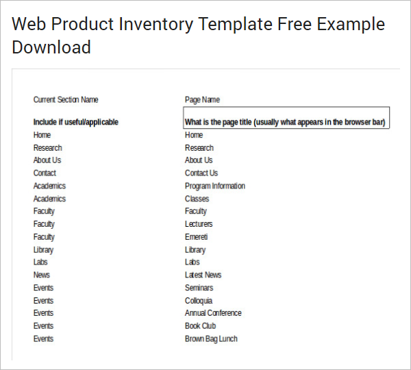 Product Sales Inventory Template