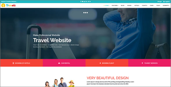 Professional Travel HTML Template