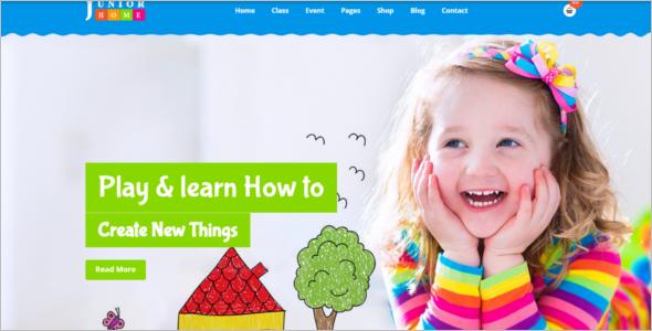 Progressive Kindergarten Website Template