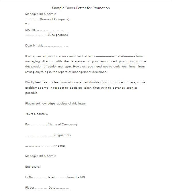 Promotion Letter Sample