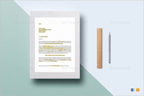 Promotion Offer Letter Template