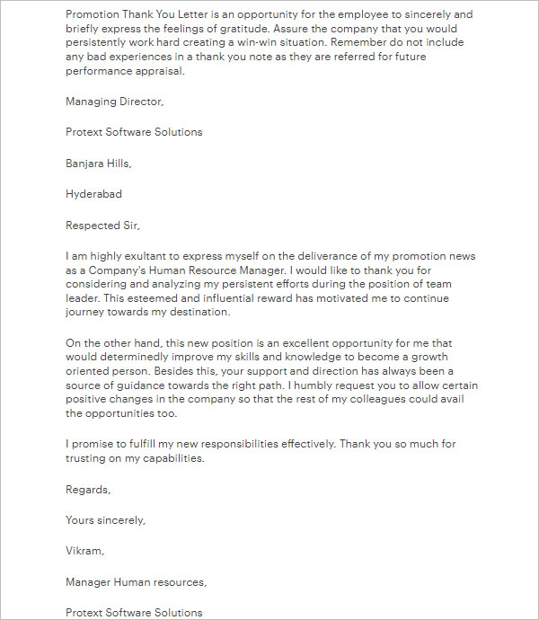 Thank you letter for promotion to manager gallery letter format 41 promotion letter templates free pdf word formats promotion thank you letter to boss expocarfo gallery expocarfo Images