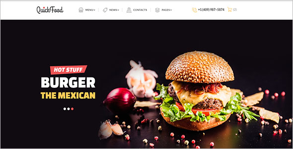 Quick Food Multipage Website Template