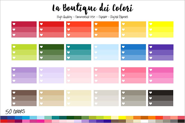 Rainbow Ombre Checklist Template