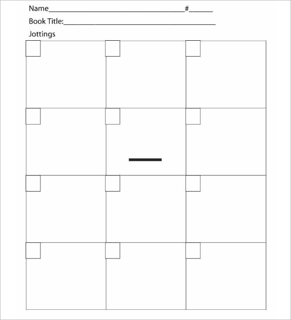 Reading Log Blank Template