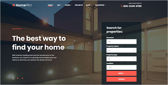 Real Estate Retail Bootstrap Template