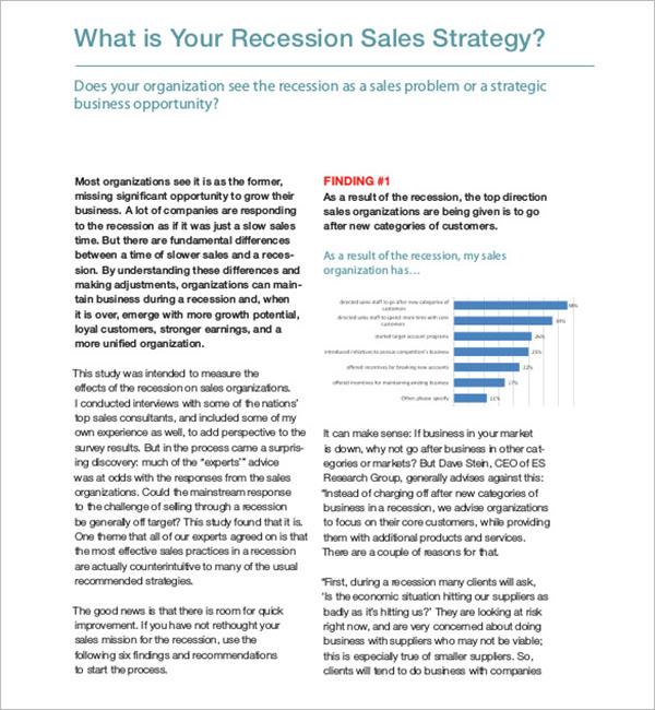 Recession Sales Strategy Idea