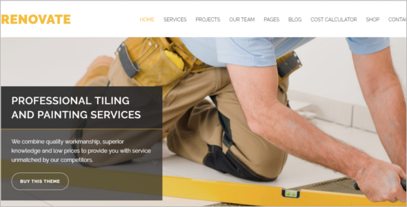 Renovative Company WordPress Theme