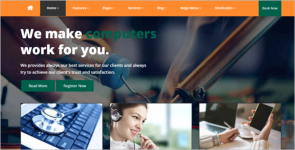Repair Services Website Template