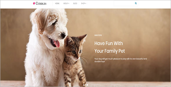 Responsive Animal Bootstrap Template