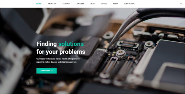 Responsive Computer Repair Website Theme