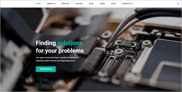Responsive Computer Repair Website Theme