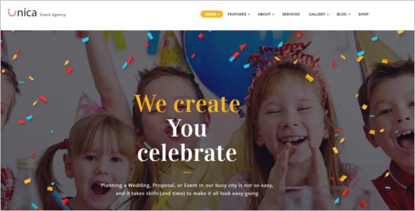 Responsive Event Management Website Theme