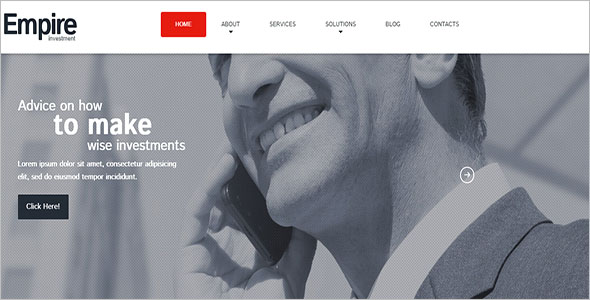 Responsive Financial Company WordPress Theme