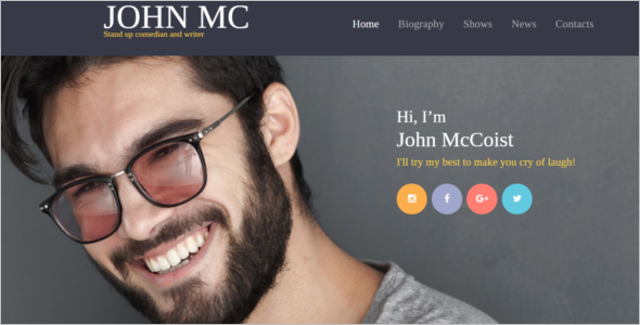 Responsive Freelancer Editor Website Theme