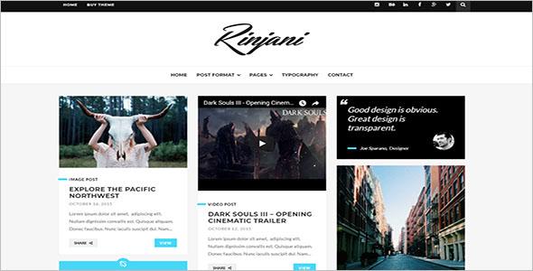 Responsive Grid Blog Template
