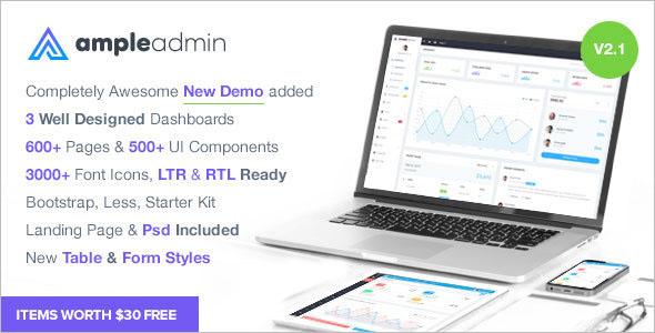 Responsive HTML Dashboard Template