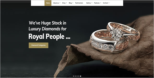 Responsive Jewelry Bootstrap Template