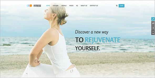 Responsive Joomla Fitness Template